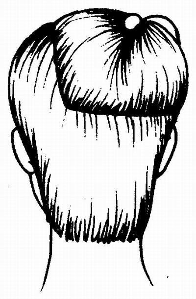 деление волос на зоны при стрижке «москвичка»