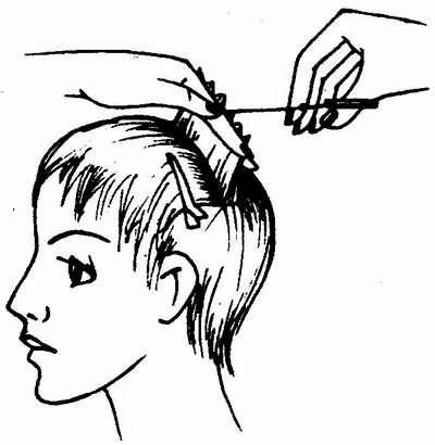 стрижка волос пойнтированием