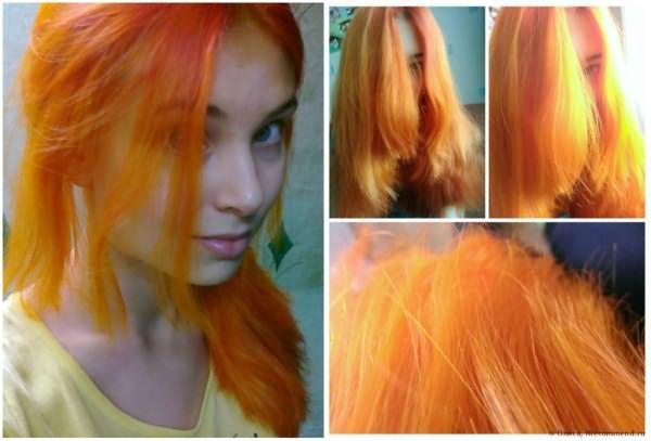 После первого применения порошка локоны могут приобрести мандариновый цвет