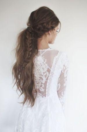 Коса заплетенная в хвост