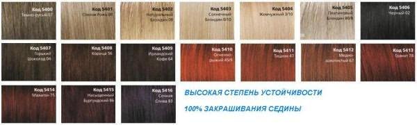 Рынок красящих средств имеет широкую палитру для закрашивания седой шевелюры
