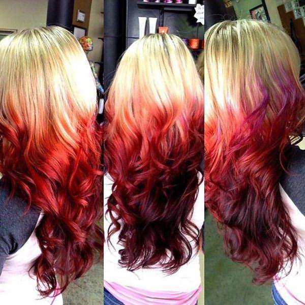 способ окрашивания волос омбре