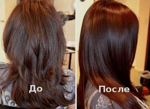 Результат действия витаминов на волосы: до и после