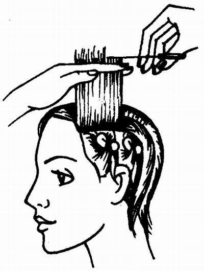стрижка волос боковой зоны