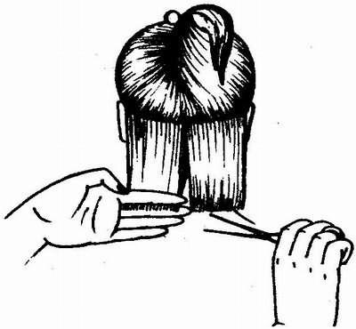 выделение прядей при густых волосах