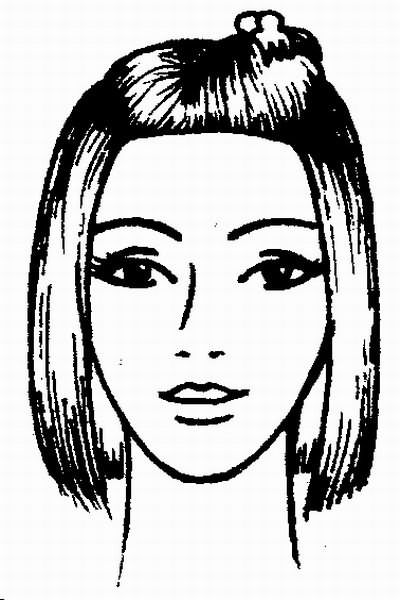 волосы теменной зоны заколите