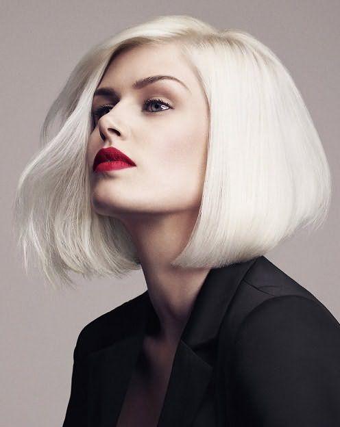 Волосы платинового оттенка