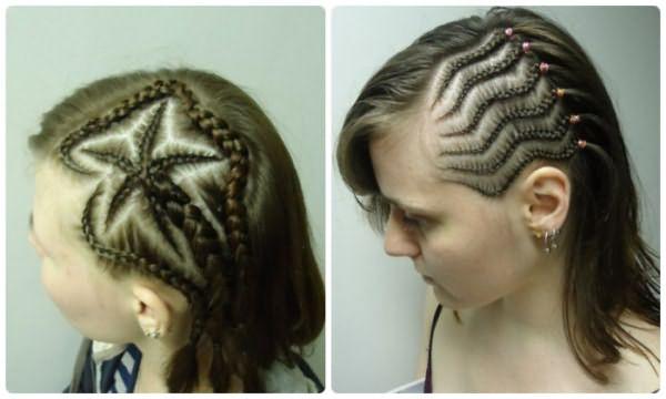 Афрокосы на короткие волосы
