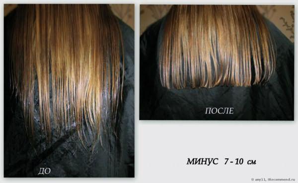 минус 7 см длины волос