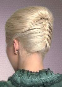 Французские косы на средние волосы 2