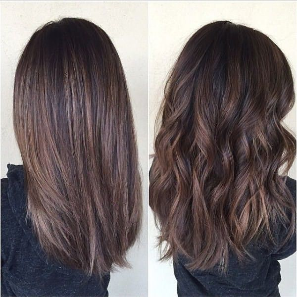 Прямые и волнистые волосы