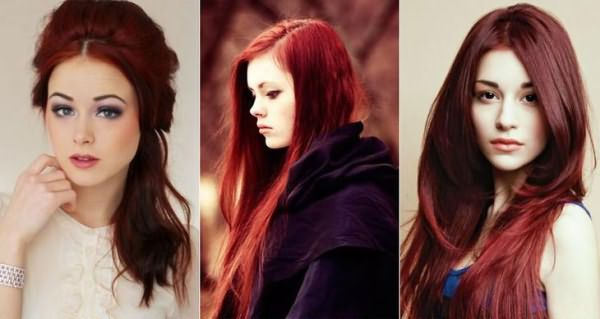 Цвет махагон получаемый при использовании хны для волос