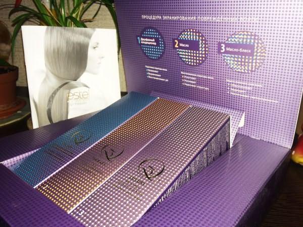 Набор Q3 Therapy от Estel: двухфазный кондиционер, восстанавливающее масло, масло-блеск