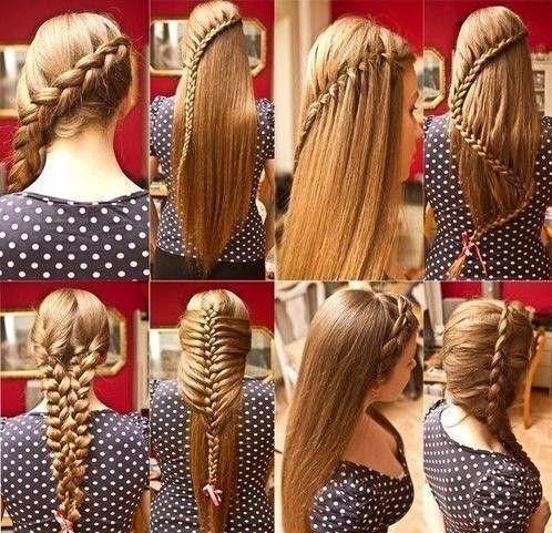 Виды кос на длинные волосы
