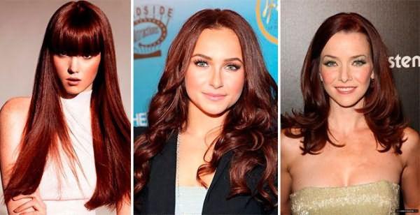Красно-коричневый цвет волос