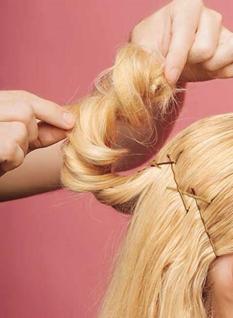 Оригинальные прически на средние волосы16