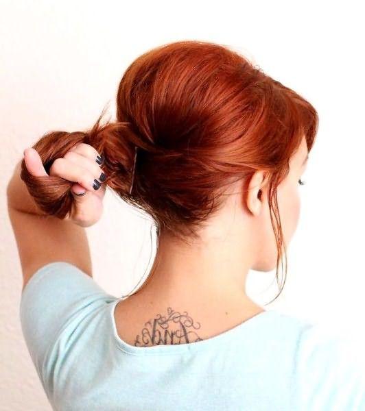 Как сделать небрежную ракушку на длинные волосы: шаг 3