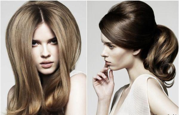 Прикорневой объем волос, созданный стайлером