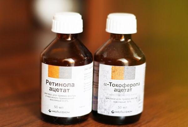 Витамин А продается в больших флаконах, а не ампулах
