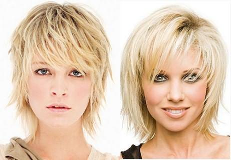 «Лесенка» пользуется популярностью у натуральных блондинок с тонкими, послушными локонами