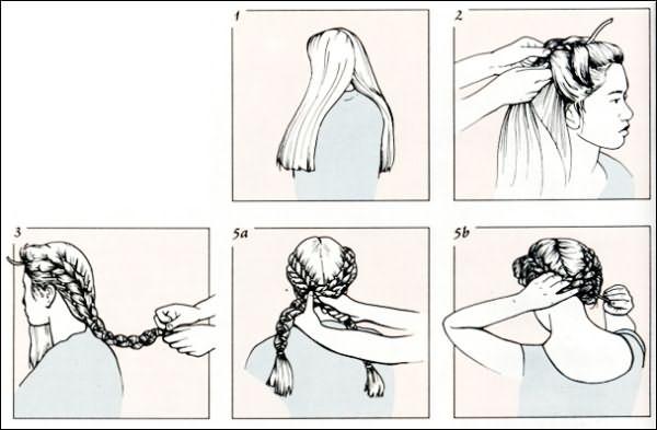 Греческая коса схема