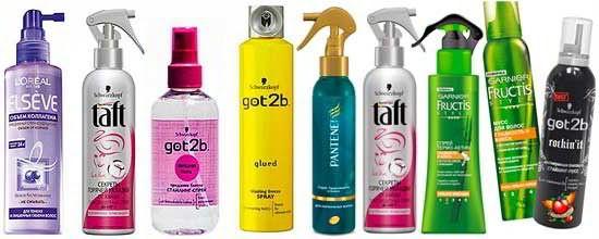 Разнообразие терозащитнх средств для ваших волос