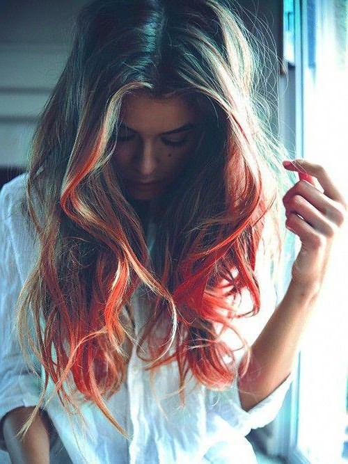 как красить волосы мелками для волос в домашних условиях