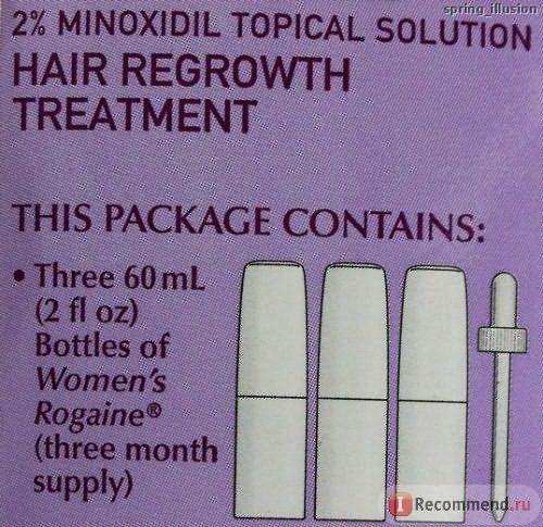 Средство от выпадения волос Pharmacia Women's ROGAINE (REGEINE) Topical Solution 2% minoxidil (Регейн с 2% миноксидила) фото
