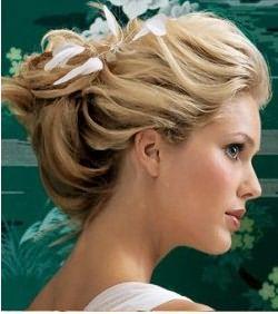 Вечерняя укладка для волос средней длины