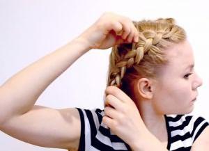 быстрая прическа на короткие волосы своими руками 3