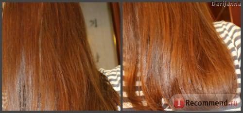 волосы после со вспышкой, длина и кончики