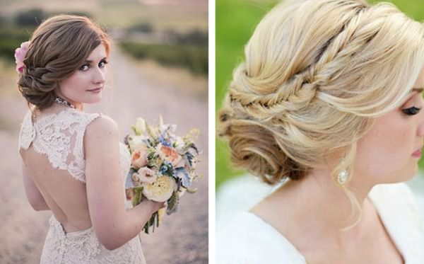 Романтичные укладки с косами