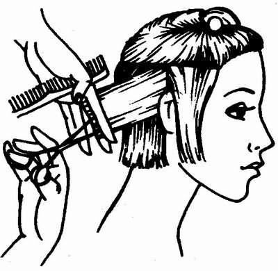 окончание стрижки волос затылочной зоны