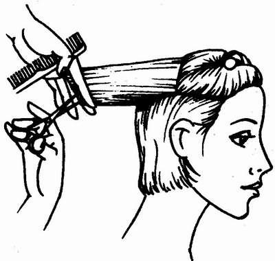 стрижка волос макушечной зоны