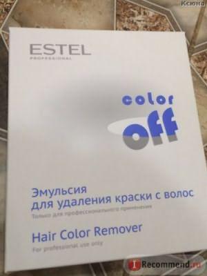 Эмульсия для удаления стойких красок с волос Estel Color Off - отзыв