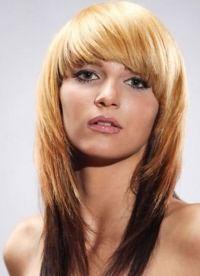красивые стрижки на длинные волосы с челкой 7