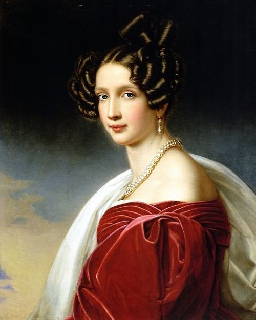 Портрет Софи, эрцгерцогиня AustriaJoseph Карл StielerOil на canvasc. 1832