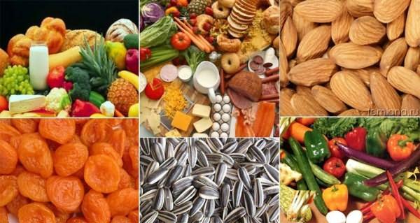 Необходимые продукты для здоровья и блеска локонов