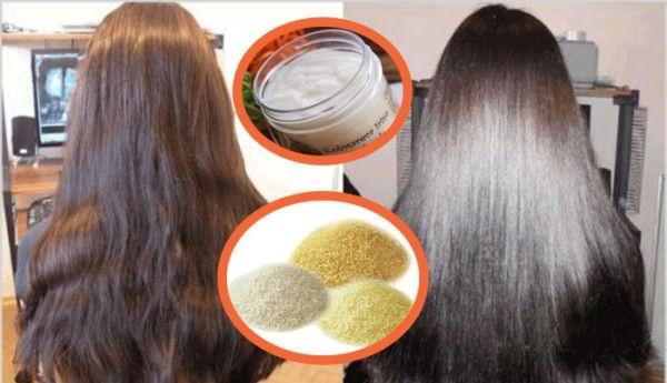 Желатиновая маска выпрямляет волосы без выпрямителя