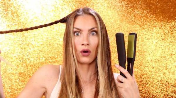 как правильно крутить волосы на утюжок