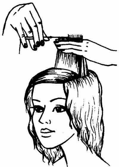 стрижка волос теменной зоны методом прядь за прядью