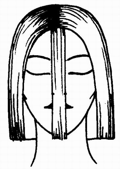 контроль симметрии при стрижке каре спереди