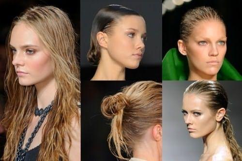 Волосы, обработанные воском