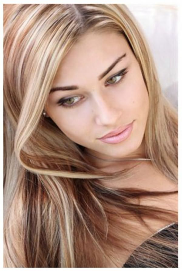 Колорирование русых волос коричневыми оттенками