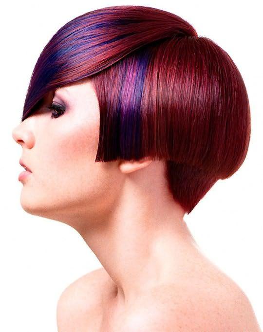 мелирование на темные крашеные волосы
