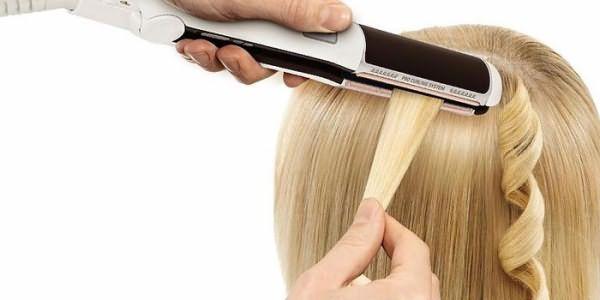 Накручивание волос утюжком