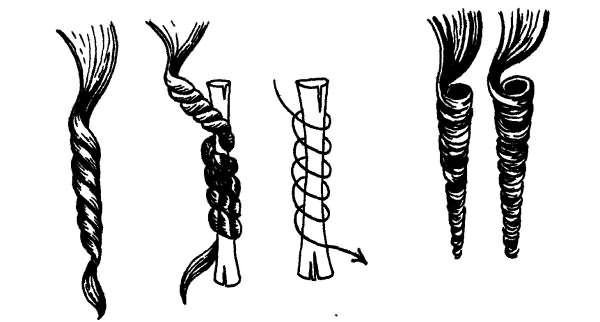 Вертикальная химия - средние локоны на средние волосы чаще всего завивают именно таким способом