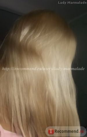 через две недели после покраски Estel Essex Princess, оттенок 9.7 ванильный бежевый блонд