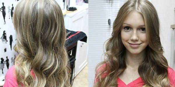Фото девушки с калифорнийским мелированием на русых волосах
