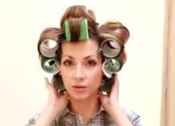 как накрутить волосы на бигуди липучки 5